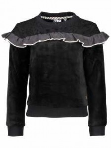 LIKE FLO Velours Sweater black