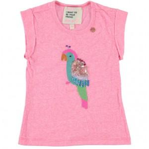 Mim-Pi T-Shirt Papagei rose meliert