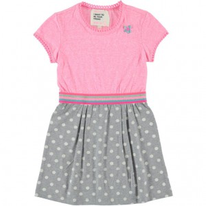 Mim-Pi Kleid Punkte rose grey