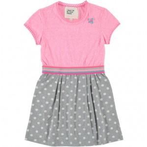 Mim-Pi Kleid Punkte rose grey