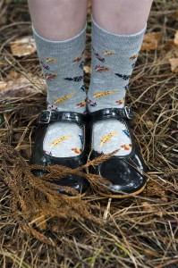 Bonnie Doon Socken Birds of a Feather med grey heather