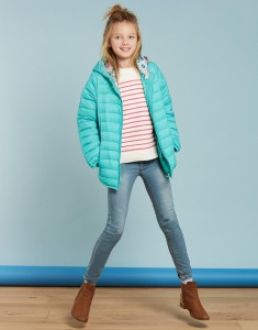 Joules Mädchen Stepp-Jacke mit Kapuze KINNAIRD grün