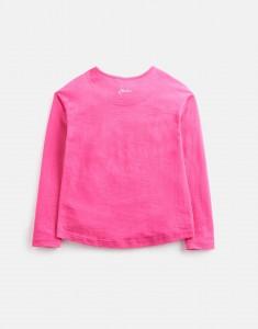 Joules Mädchen Langarm-Shirt Wendepailletten Einhornkopf RAYA  rosa