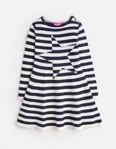 Joules Mädchen Strick-Kleid JANEY Streifen Stern blau