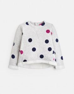 Joules Mädchen Sweat-Shirt MART Punkte grau