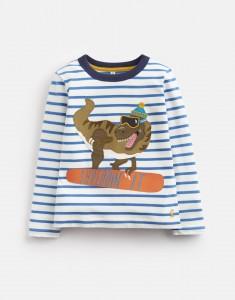 Joules Jungen Langarm-Shirt/Longsleeve JACK Streifen Dino