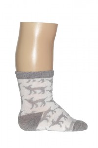 Bonnie Doon Baby Socken DEER light grey heather