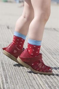Bonnie Doon Juicy Dots Baby-Socken rot