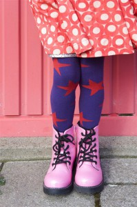 Bonnie Doon Strumpfhose BIG STARS aristocrat (lila-rot)