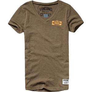 Vingino T-Shirt V-Neck HENORIE army green wood