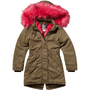 Vingino Winter Long-Parka/ Mantel mit Kapuze TRENCI army green wood