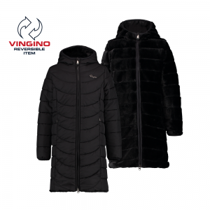 Vingino Wende-Winter-Mantel mit Kapuze TENDELY deep black