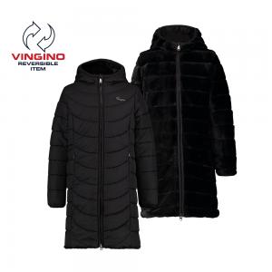 Vingino Wende-Winter-Mantel mit Kapuze TENDELY deep black
