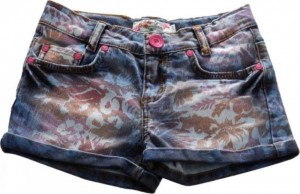 Blue Effect Mädchen Short denim floral bunt