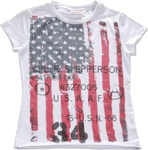 Blue Effect Mädchen T-Shirt weiß USA