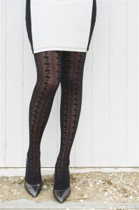Bonnie Doon Damen-Fein-Strumpfhose GOOD OLD LACE schwarz
