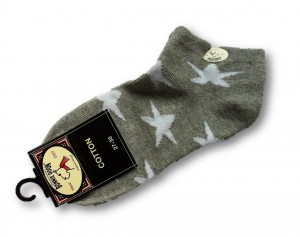 Bonnie Doon Kurz-Socken A STAR IS BORN hellgrau