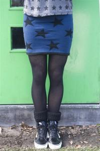 Bonnie Doon Damen Strick Rock BIG STARS dark denim