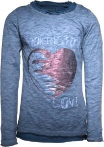 Blue Effect Doppel-Langarm-Shirt/Longsleeve Herz stahlblau