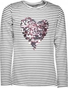 Blue Effect Langarm-Shirt/Longsleeve Herz Streifen
