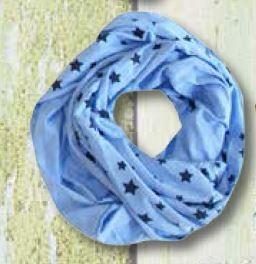 Blue Effect Mädchen Loop Sterne wasserblau