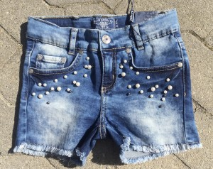 Blue Effect Mädchen Jeans-Short mit Perlen blue denim NORMAL