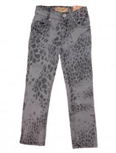 Blue Effect Mädchen Leoprint-Jeans grau