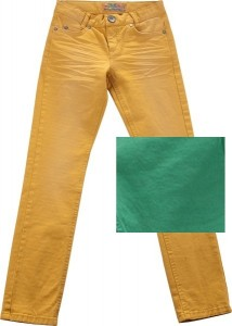 Blue Effect Mädchen coloured Jeans used-Look moosgrün