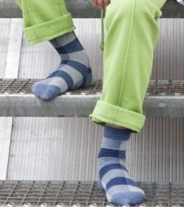 Bonnie Doon Kinder Socken Karo denim heather