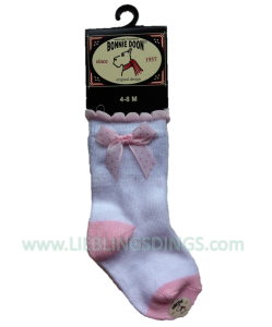 Bonnie Doon Baby Socken SPECKLED BOW rosa