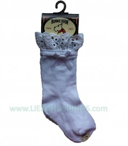 Bonnie Doon Baby Socken Broderie weiß mit Spitze
