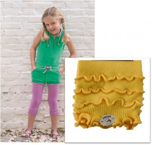 Bonnie Doon Capri-Legging Frou Frou mit Wellensaum gelb