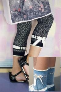 Bonnie Doon Legging REFINED dazed blue mit Schleife
