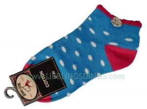 Bonnie Doon Kurzsocken Dazzling Dots blau/weiß/pink