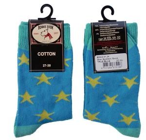 Bonnie Doon Socken Star System blau