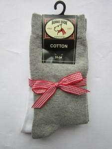 Bonnie Doon Socken 2er Pack hellgrau/weiß