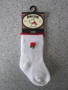 Bonnie Doon Baby Socken Rose weiß-rot