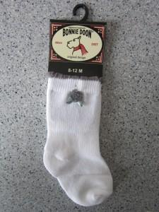 Bonnie Doon Baby Socken Rose weiß-grau