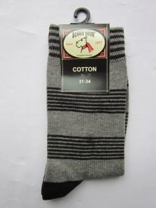 Bonnie Doon Socken Streifen mittelgrau/schwarz
