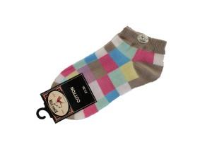 Bonnie Doon Digital Art kurz-Socken karo sand/grün/hellblau/rosa