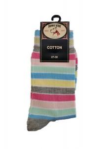 Bonnie Doon Full Color Socken Streifen light grey heather