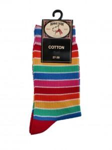 Bonnie Doon Full Color Socken Streifen rot