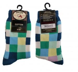 Bonnie Doon Digital Art Socken karo blau/grün/rosa