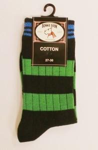 Bonnie Doon Socken Streifen grün-schwarz-blau
