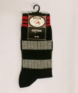 Bonnie Doon Socken Streifen grau-schwarz-rot