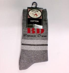 "Bonnie Doon Socken ""BD"" med. grey heather"