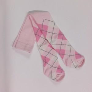 Bonnie Doon Strumpfhose Raute rosa-offwhite