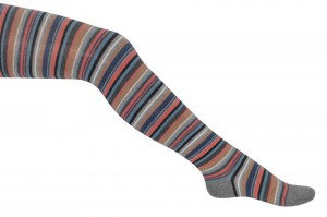 Bonnie Doon Strumpfhose BRIGHT STRIPES med. grey heather