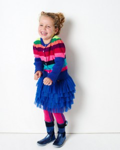 Mim-Pi Tüll-Rock / Petticoat blau