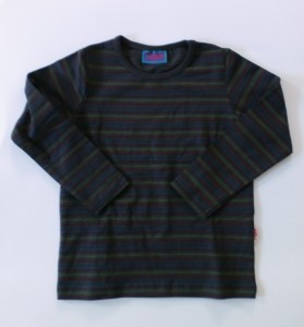 Paglie Basic - Langarmshirt in peat mit Streifen